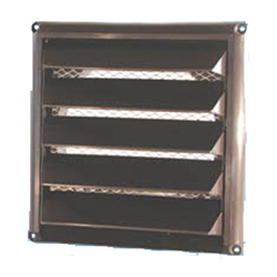 Plastic Wall Vent with Air Intake Louvers